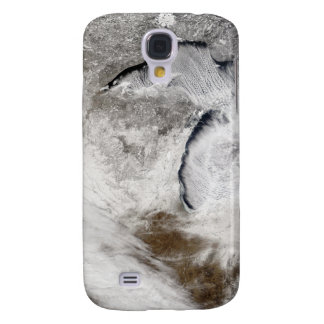 Cloud streets over Lake Superior and Lake Michi Galaxy S4 Case