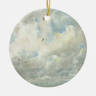 Cloud Study, 1821 (oil on paper laid down on board Round Ceramic Decoration