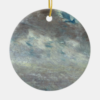 Cloud Study, 1821 (oil on paper on board) Round Ceramic Decoration