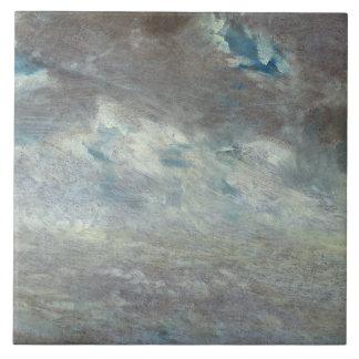 Cloud Study, 1821 (oil on paper on board) Tile