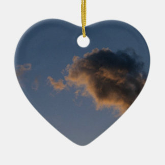 Cloud Study Ceramic Heart Decoration