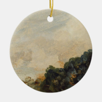 Cloud Study with Trees, 1821 (oil on paper laid do Christmas Ornament