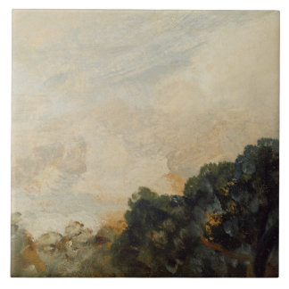 Cloud Study with Trees, 1821 (oil on paper laid do Tile