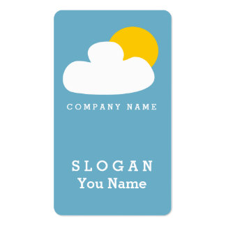 CLOUD SUN TO DAWN CELESTIAL FRESH BLUE NATURAL PACK OF STANDARD BUSINESS CARDS