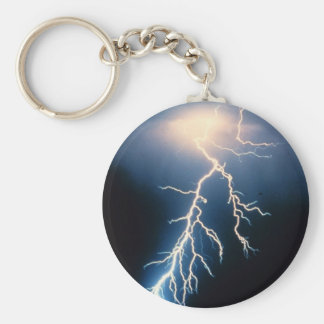 Cloud to Ground Lightning Key Ring