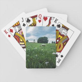 Cloud tree flower playing cards