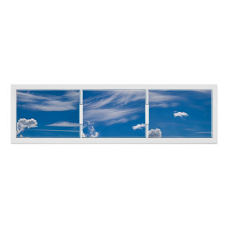 Cloud Tryptich Poster