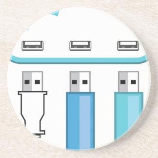 Cloud USB hub Coasters