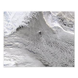 Cloud vortices off Jan Mayen Island Photo Art