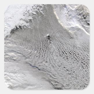 Cloud vortices off Jan Mayen Island Square Sticker