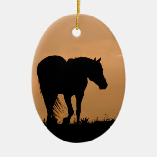 Cloud Walks at Sunset Wild Horse Holiday Ornament