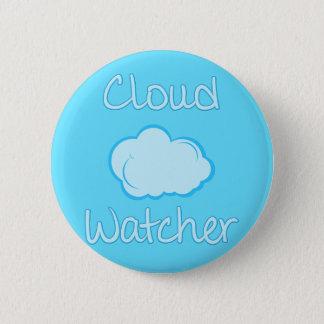 Cloud watcher 6 cm round badge