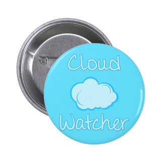 Cloud watcher 6 cm round badge