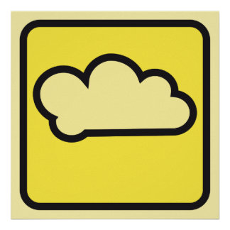 cloud yellow 01 poster