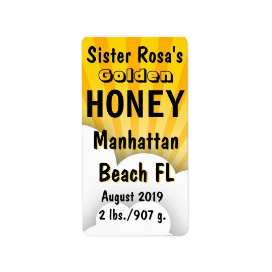 Cloudburst Honey Jar Personalised Label