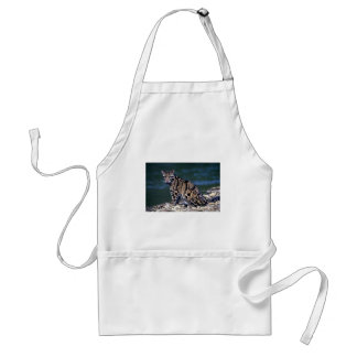 Clouded Leopard-eye contact Apron