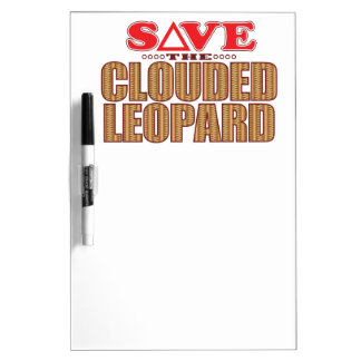 Clouded Leopard Save Dry Erase Board