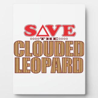 Clouded Leopard Save Plaque