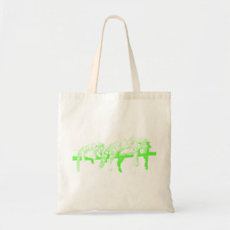 Clouded Leopards on a Log Tote Bag -- Green