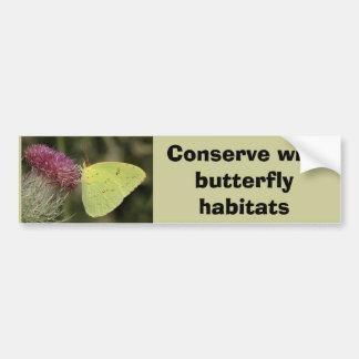 Cloudless Sulphur butterfly bumper sticker Car Bumper Sticker