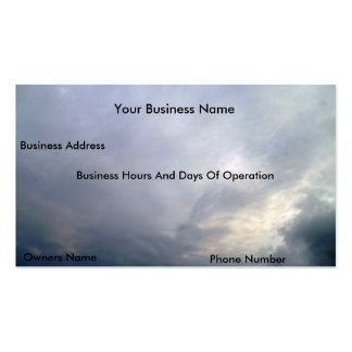 Clouds 2, Business Cards