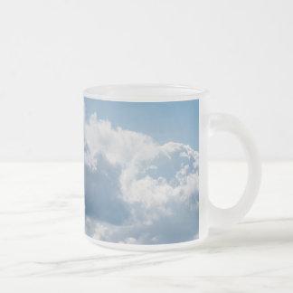clouds-388922 BEAUTIFUL SKY NATURE BLUE WHITE CLOU Frosted Glass Mug