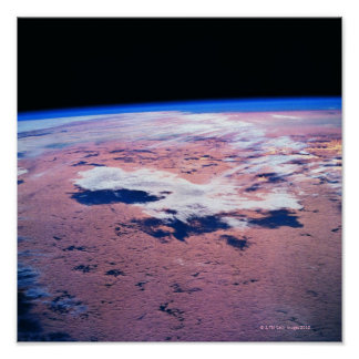 Clouds Above Earth Poster