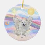 Clouds - American Eskimo Dog Christmas Tree Ornaments
