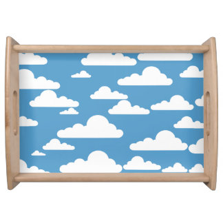 CLOUDS AND BLUE SKY Serving Tray
