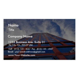 Clouds And Building Business Card Templates