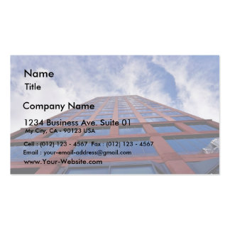 Clouds And Building Business Cards