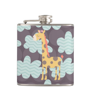 Clouds and Giraffes Hip Flask