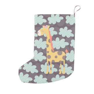 Clouds and Giraffes Small Christmas Stocking