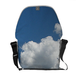 Clouds and Green Messenger Bags