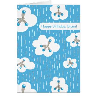 Clouds And Methane Molecules Geek Happy Birthday Card