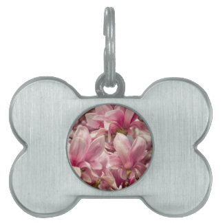 clouds and roses  in the blue sky pet tag