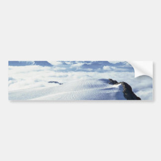 Clouds And Snow Bumper Stickers