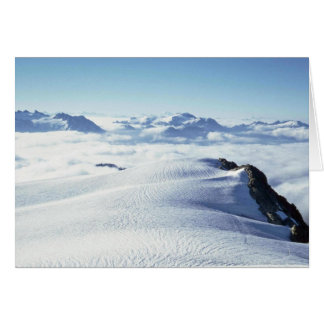 Clouds And Snow Greeting Card