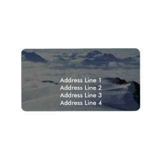 Clouds And Snow Address Label