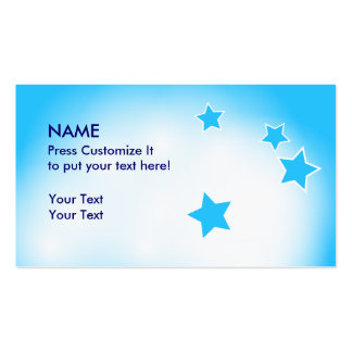 Clouds and Stars Double-Sided Standard Business Cards (Pack Of 100)