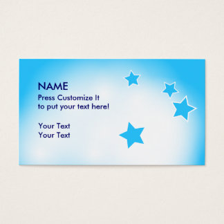 Clouds and Stars Business Card