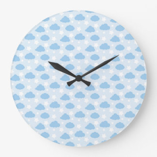 Clouds And Stars Wall Clocks