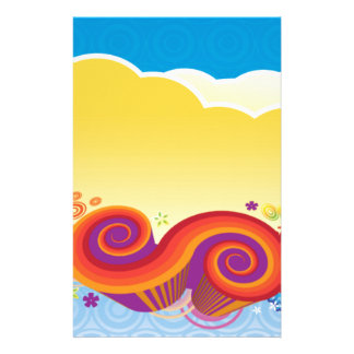 clouds and swirls stationery