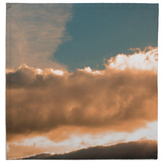 Clouds at sunset napkin