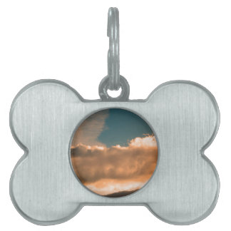 Clouds at sunset pet name tag