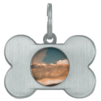 Clouds at sunset pet name tag