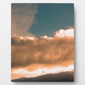 Clouds at sunset plaque