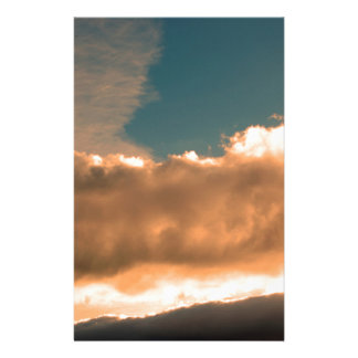 Clouds at sunset stationery