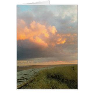 Clouds  at the beach card