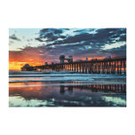 Clouds at the Oceanside Pier Gallery Wrapped Canvas